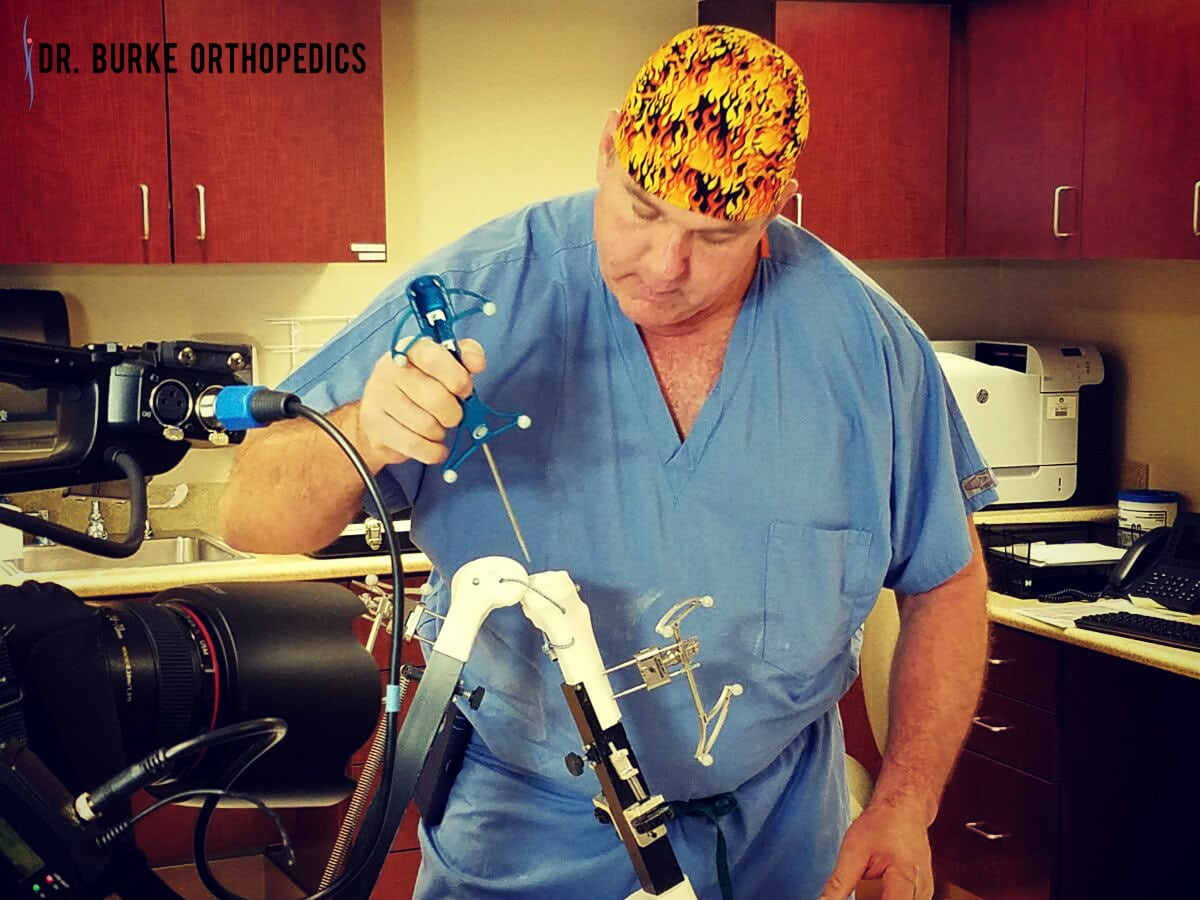 Dr. Burke - orthopedic Doctor does robotic surgery and stem cell therpay